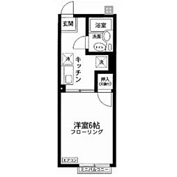 神奈川県横浜市旭区笹野台1丁目の賃貸アパートの間取り