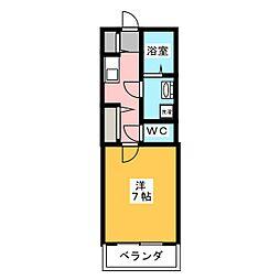ブセナテラス[2階]の間取り