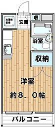 メゾンUNOKI[203号室]の間取り