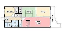 クリーンマンション[1階]の間取り