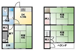 [タウンハウス] 兵庫県明石市魚住町西岡 の賃貸【兵庫県 / 明石市】の間取り