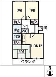 フォレストハウス[2階]の間取り