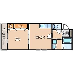 フジパレス黒田I番館[2階]の間取り