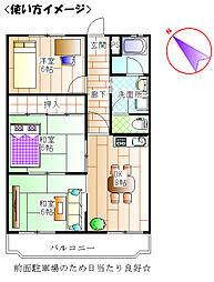 第2原田ビル[203号室]の間取り