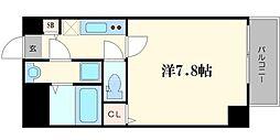 TOYOTOMI STAY PREMIUM 梅田III 2階1Kの間取り