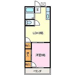 近鉄志摩線 志摩赤崎駅 徒歩8分の賃貸アパート 1階1LDKの間取り