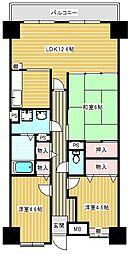 レジェロ住之江[7階]の間取り