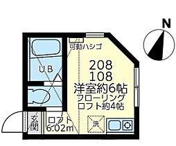 ユナイト七島スカイサンフラワー[108号室]の間取り