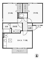 サンフルさがみ野B[1階]の間取り