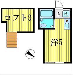シャンテ青砥[2階]の間取り