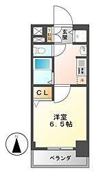 プレサンス名古屋STATIONアブソリュート[9階]の間取り