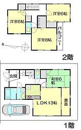 [一戸建] 埼玉県春日部市中央3丁目 の賃貸【/】の間取り
