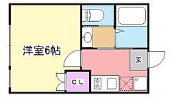 フォレストハウス習志野A棟[205号室]の間取り