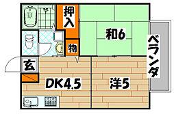 サンライフローゼ[2階]の間取り