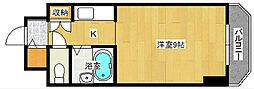 広島県広島市中区住吉町の賃貸マンションの間取り