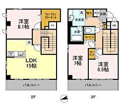 仮 稲田堤レジデンス[3階]の間取り