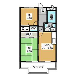 ハイツ浅井[2階]の間取り
