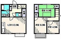 [テラスハウス] 東京都西東京市保谷町1丁目 の賃貸【/】の間取り