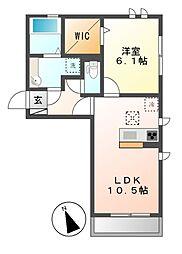 (仮)D-room荒子町[1階]の間取り