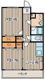 Reve Sentir(レーヴサンティール)[303号室]の間取り