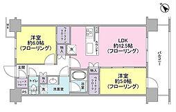 サンクレイドル東神奈川[2階]の間取り