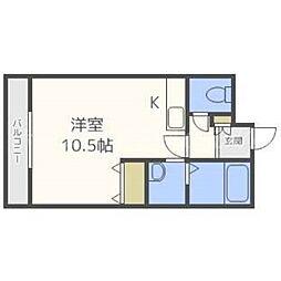 北海道札幌市東区北二十五条東13丁目の賃貸マンションの間取り
