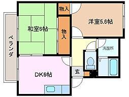 三重県桑名市多度町戸津の賃貸アパートの間取り