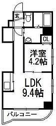 北海道札幌市中央区大通西14丁目の賃貸マンションの間取り