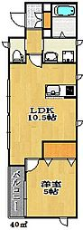 ハウスM・Y・KII[1階]の間取り