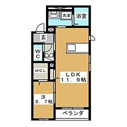 センチュリー10[3階]の間取り
