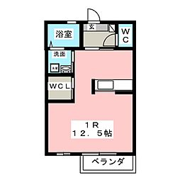 アールM.K(B棟)[1階]の間取り