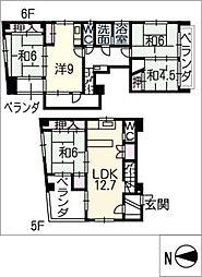シェラトン八ツ寺[6階]の間取り
