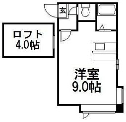 TS札幌[204号室]の間取り