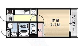 JR東海道・山陽本線 桂川駅 徒歩25分の賃貸マンション 3階1Kの間取り