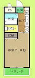 埼玉県東松山市元宿2丁目の賃貸マンションの間取り