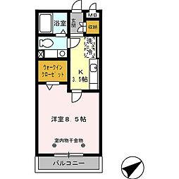 セーリング5 A[3階]の間取り