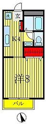 サンガーデン八柱[B205号室]の間取り