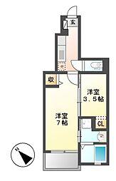 グレイス藤[1階]の間取り