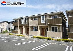愛知県田原市福江町羽根の賃貸アパートの外観