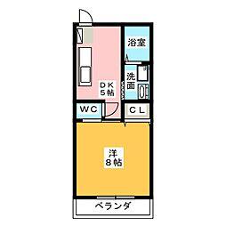 コーポ藤 B[2階]の間取り