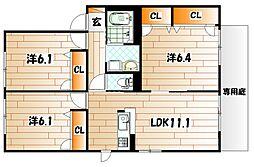 プレミール・G・さくら館 B棟[1階]の間取り