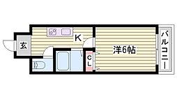 兵庫県加古川市別府町別府の賃貸マンションの間取り