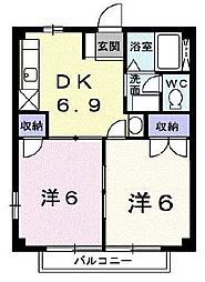 東京都八王子市西寺方町の賃貸マンションの間取り