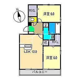 グランディオ A棟[2階]の間取り