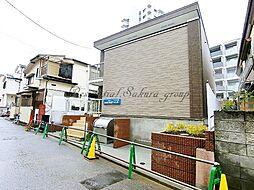 神奈川県藤沢市片瀬の賃貸アパートの外観