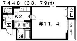 カスカードIII[201号室号室]の間取り