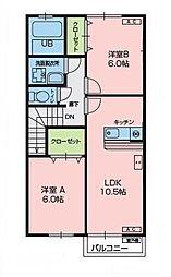 オムソール[2階]の間取り