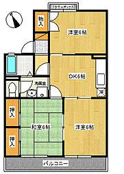 メイトM2[1階]の間取り