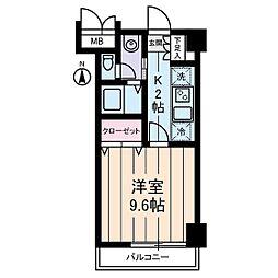 パストラーレ三ノ輪[4階]の間取り