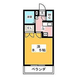 カレッジハイツ六反田[3階]の間取り